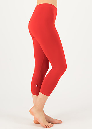 logo 3/4 leggings, strong red, Leggings, Rot