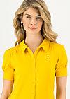 logo blouse, healing yellow, Shirts, Yellow