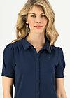 logo blouse, pure blue, Shirts, Blue
