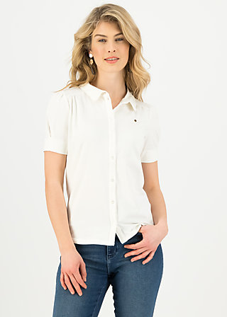logo blouse, essential white, Shirts, White