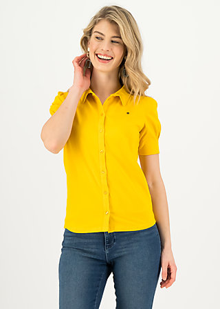 logo blouse, healing yellow, Shirts, Yellow