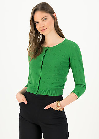logo cardigan roundneck short, green anchor ahoi, Cardigans & lightweight Jackets, Green