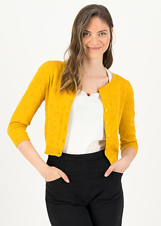 logo cardigan roundneck short, yellow anchor ahoi, Cardigans & lightweight Jackets, Yellow