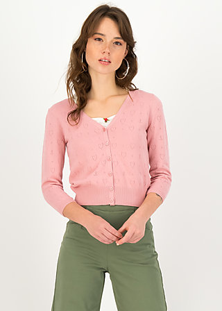 logo cardigan v-neck 3/4 arm, blush anchor ahoi, Cardigans & leichte Jacken, Rosa