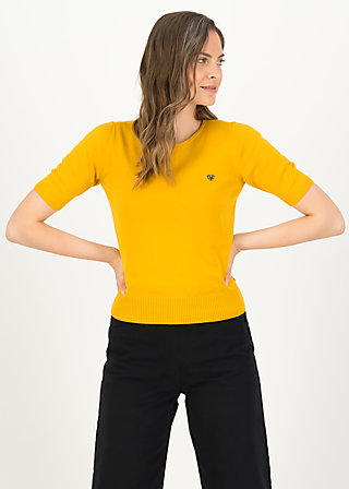 logo pully roundneck 1/2 arm, yellow star, Cardigans & leichte Jacken, Gelb