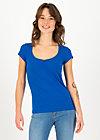 logo shortsleeve feminin, bright blue, Shirts, Blau