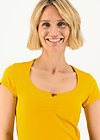 logo shortsleeve feminin, healing yellow, Shirts, Gelb
