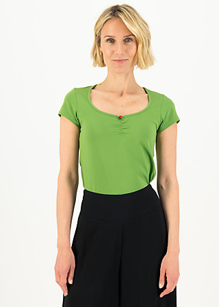 logo shortsleeve feminin, clarify green, Shirts, Green
