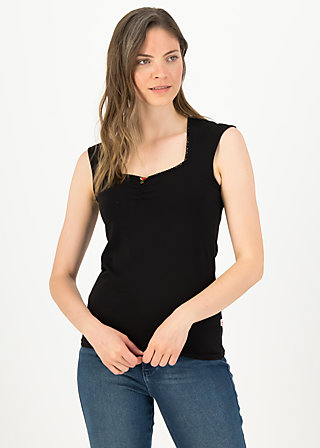 logo top romance, basic black, Shirts, Schwarz