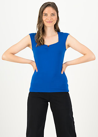 logo top romance, bright blue, Shirts, Blue