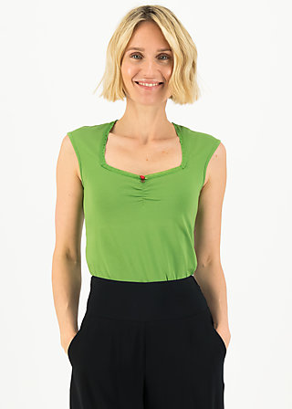 logo top romance, clarify green, Shirts, Green