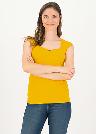logo top romance, healing yellow, Shirts, Yellow