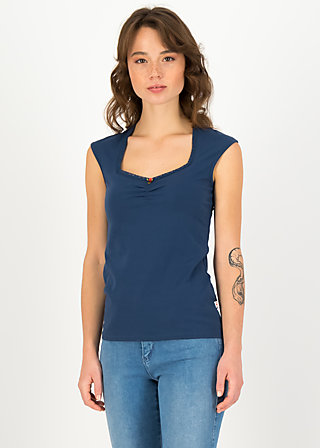 logo top romance, pure blue, Shirts, Blue