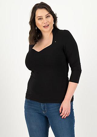 Jersey Shirt pow wow vau cropped, basic black, Shirts, Schwarz