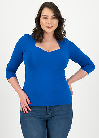 Jersey Shirt pow wow vau cropped, bright blue, Shirts, Blau