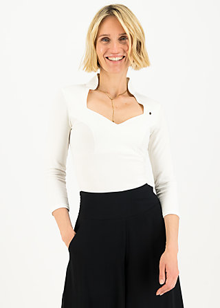 Jersey Shirt pow wow vau cropped, essential white, Shirts, Weiß