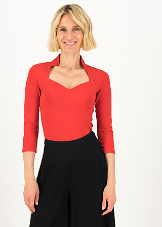 Jersey Top pow wow vau cropped, strong red, Shirts, Red