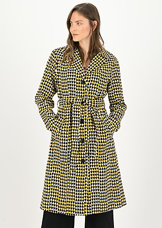 Trench Coat schönwetterwolken, dusty diamond, Jackets & Coats, Yellow
