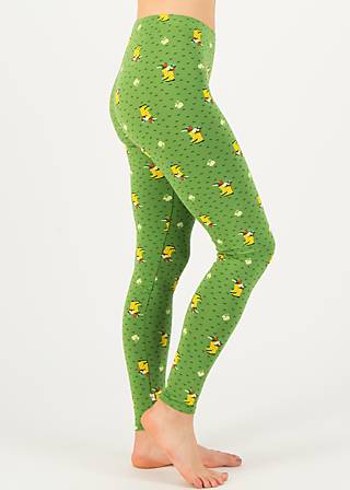 Leggings spazierchen, yellow wellys, Leggings, Green