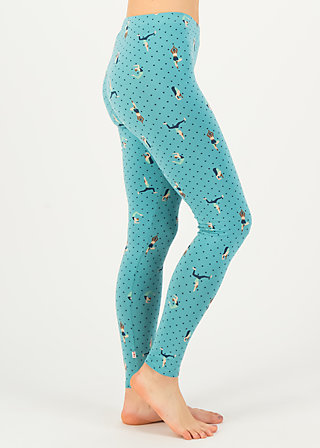 Leggings spazierchen, yoga flowgirls, Leggings, Blue