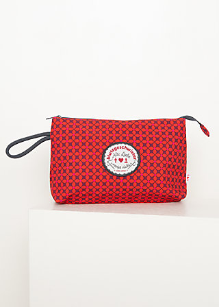 Makeup Bag sweethearts washbag, red stars, Accessoires, Red