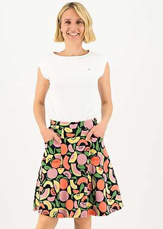 Circle Skirt up and away, smoothie fruits, Skirts, Black