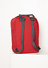 Rucksack wild weather lovepack, red stars, Accessoires, Rot