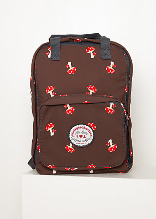 Rucksack wild weather lovepack, mushroom in the wood, Accessoires, Braun