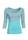 carmencita mon amour shirt, berry dots, Shirts, Türkis