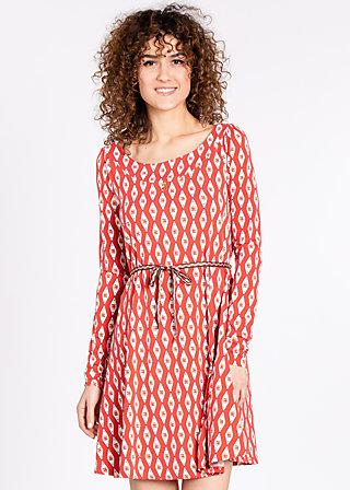 everella dress, retro roses, Kleider, Orange
