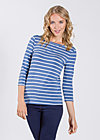 logo 3/4 sleeve shirt, blue stripes, Shirts, Blau