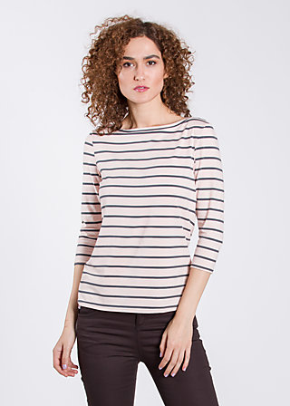 logo 3/4 sleeve shirt, rose stripes, Shirts, Rosa