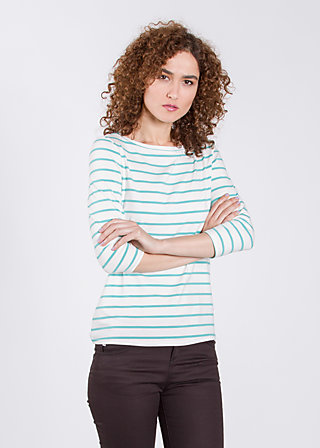 logo 3/4 sleeve shirt, white stripes, Shirts, Weiß