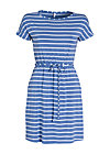 logo shortsleeve dress, blue stripes, Kleider, Blau