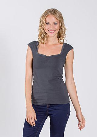 logo sleeveless top, almost black, Shirts, Schwarz