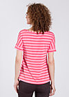 logo tshirt grown-on sleeves, pink stripes, Shirts, Rosa