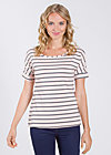 logo tshirt grown-on sleeves, rose stripes, Shirts, Rosa