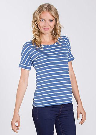 logo tshirt grown-on sleeves, blue stripes, Shirts, Blau