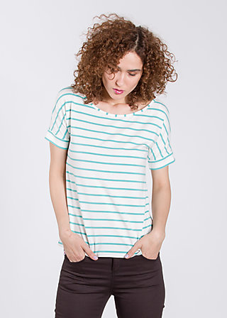 logo tshirt grown-on sleeves, white stripes, Shirts, Weiß