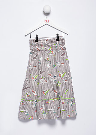 summerbirds dream skirt, singing bird sing, Röcke, Braun