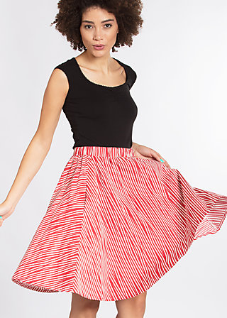 big girls don´t cry skirt, trot the fox stripes, Webröcke, Rot