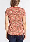 boyfriend and flowers tee, mad melon mambo, Kurzarm, Rot
