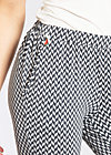 capri camping pants, step by side, Stoffhosen, Schwarz