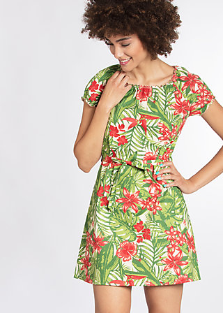 cry to me dress, exotic evergreen, Webkleider, Grün