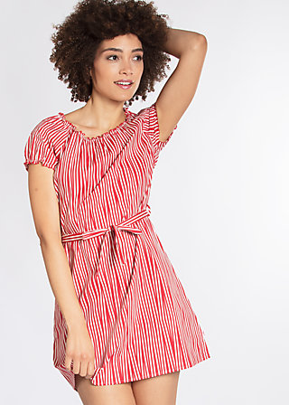 cry to me dress, trot the fox stripes, Webkleider, Rot