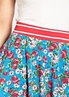 daddys girl skirt, mountain flower, Jerseyröcke, Blau