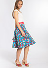 daddys girl skirt, mountain flower, Jersey Skirts, Blau