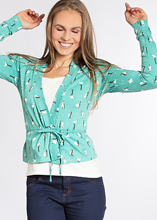 devils sweetheart cardigan , blues and rhythm, Jumpers & lightweight Jackets, Türkis