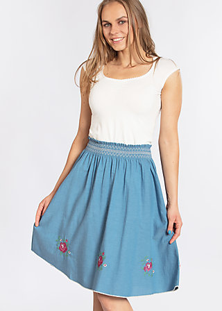 do you love me skirt, blue smoke eyes, Webröcke, Blau