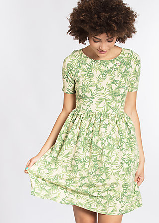 game of love dress, love for leaves, Jerseykleider, Grün